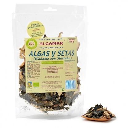 Alge marine wakame cu shiitake raw 100g