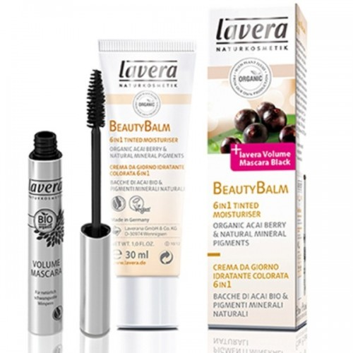 Set BIO BB Cream Beauty Balm 6 in 1 cu acai berry 30ml si Mascara Negru pentru volum 4.5ml