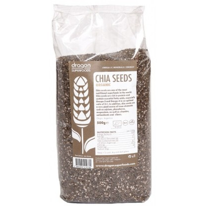 Seminte de chia raw BIO 500g Dragon Superfood