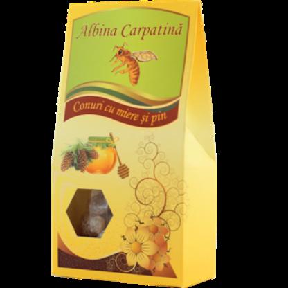Conuri cu miere si pin 100g Albina Carpatina