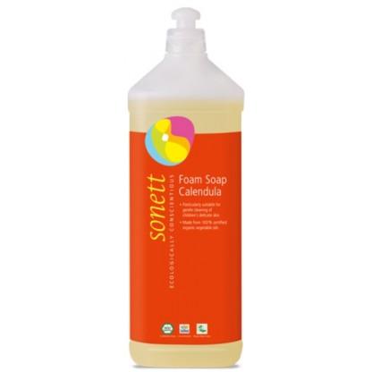 Sapun lichid ecologic spumant cu galbenele pentru copii 1L Sonett