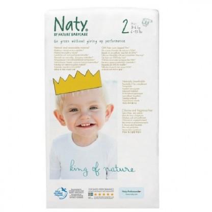 Scutece ECO Naty Nr2 pt 3-6 kg 36buc