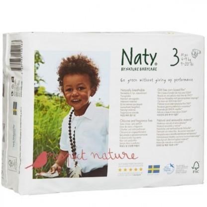 Scutece ECO Naty Nr 3 pt 4-9 kg 31buc