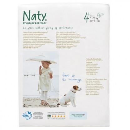 Scutece ECO Naty Nr 4+ pt 9-20 kg 25buc
