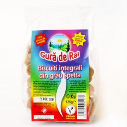 BIO Biscuiti din grau spelta cu xilitol 125g Gura de Rai