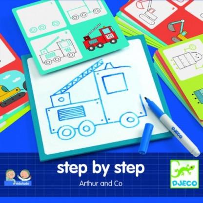 Deseneaza pas cu pas (pentru baieti) Djeco, de la 3 ani