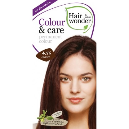 COLOUR CARE vopsea permanenta fara amoniac 4.56 AUBURN Hairwonder
