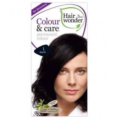 COLOUR CARE vopsea permanenta fara amoniac BLACK 1 Hairwonder
