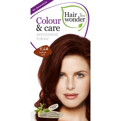 COLOUR CARE vopsea permanenta fara amoniac Henna Red 5.64 Hairwonder
