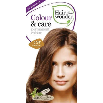COLOUR CARE vopsea permanenta fara amoniac Care Hazelnut 6.35 Hairwonder