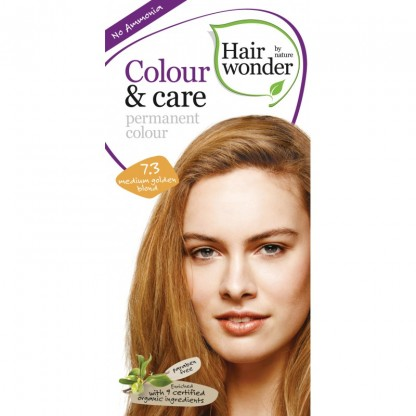 COLOUR CARE vopsea permanenta fara amoniac Medium Golden Blond 7.3 Hairwonder