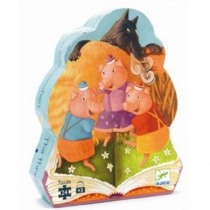 Puzzle Djeco Cei 3 purcelusi, de la 3 ani