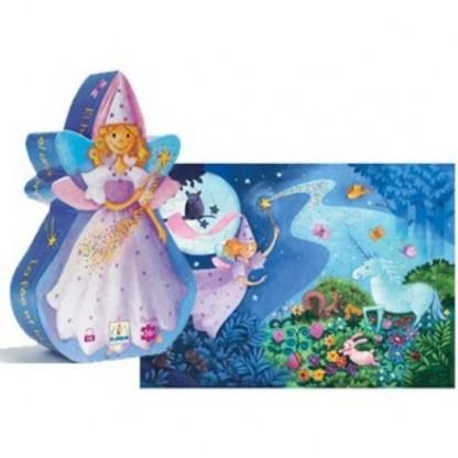Puzzle Djeco Zana si Unicornul, de la 4 ani