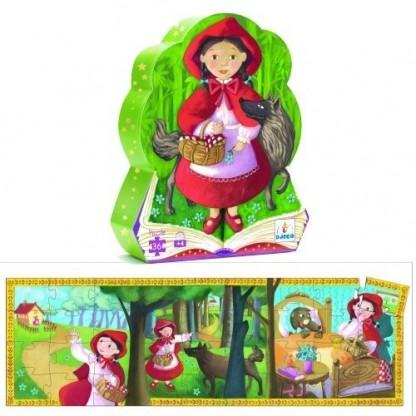 Puzzle Djeco Scufita Rosie, de la 4 ani