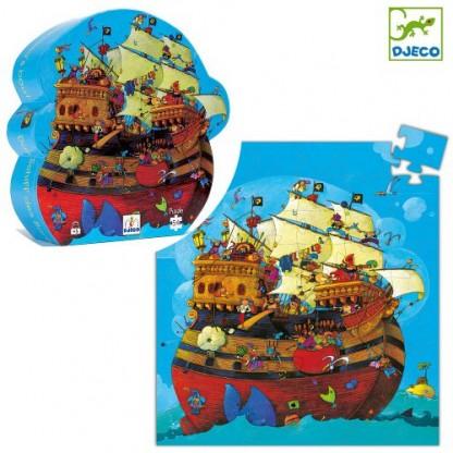 Puzzle Djeco Corabia Barbarossa, de la 5 ani