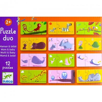 Puzzle Duo Djeco Mama si Puiul, de la 2 ani