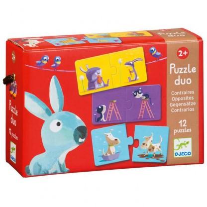 Puzzle Duo Djeco Antonime, de la 2 ani