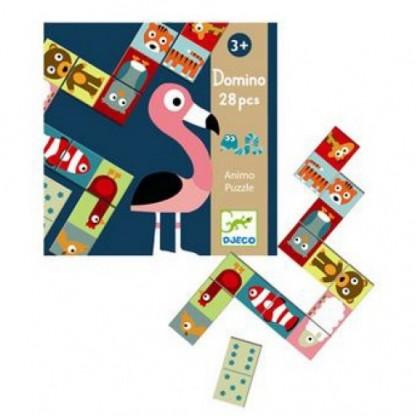 Domino Animo Puzzle Djeco, de la 3 ani