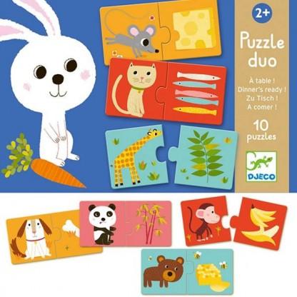Puzzle Duo Djeco la masa, de la 2 ani