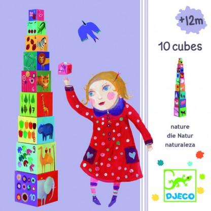 Turn de construit Djeco Natura, de la 1 an