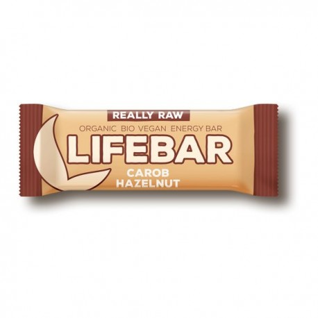Lifebar baton cu alune si carob Raw BIO 47g Lifefood