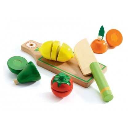 Fructe și legume de feliat Djeco, de la 3 ani