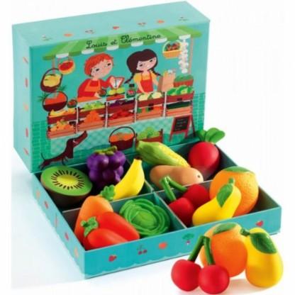Fructe și legume de lemn Djeco, de la 3 ani