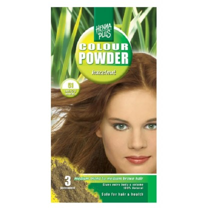 Pudra Henna Colour Powder Hazelnut 51 HennaPlus 100g