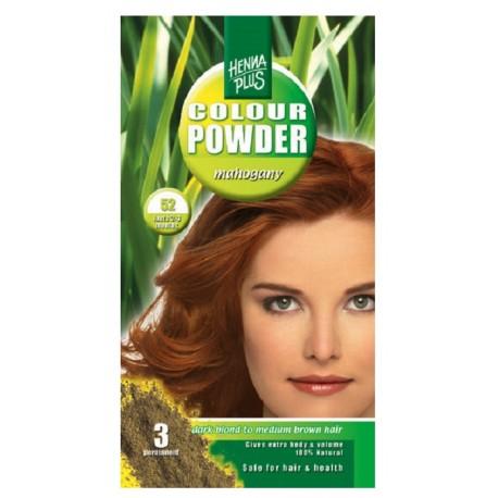 Pudra Henna Colour Powder Mahogany 52 HennaPlus 100g