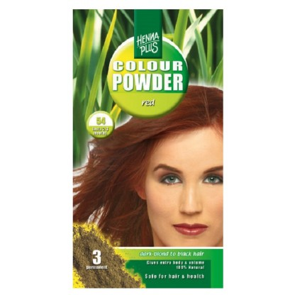 Pudra Henna Colour Powder Red 54 HennaPlus 100g