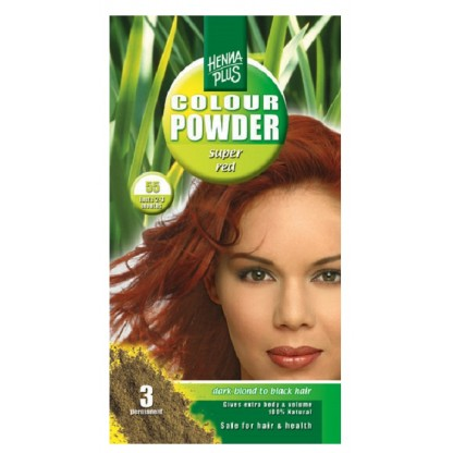 Pudra Henna Colour Powder Super Red 55 HennaPlus 100g