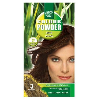 Pudra Henna Colour Powder Dark Brown 57 HennaPlus 100g