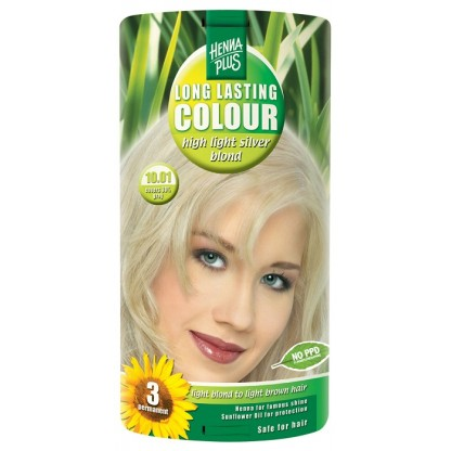 Vopsea de par Long Lasting Colour High Silver Blond 10.01 HennaPlus