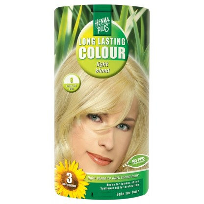 Vopsea de par Long Lasting Colour High Light Blond 8 HennaPlus