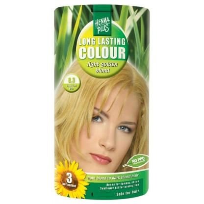 Vopsea de par Long Lasting Colour High Light Golden Blond 8.3 HennaPlus