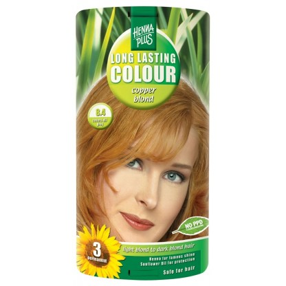 Vopsea de par Long Lasting Colour High Copper Blond 8.4 HennaPlus
