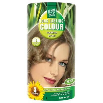 Vopsea de par Long Lasting Colour High Medium Blond 7 HennaPlus