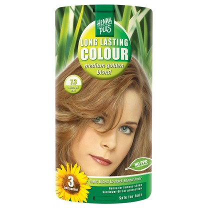 Vopsea de par Long Lasting Colour High Medium Golden Blond 7.3 HennaPlus