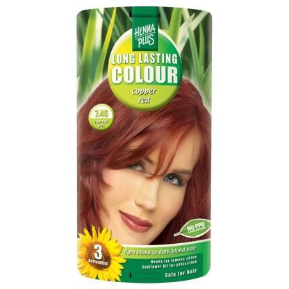 Vopsea de par Long Lasting Colour Copper Red 7.46 HennaPlus