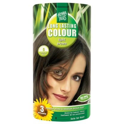Vopsea de par Long Lasting Colour Light Brown 5 HennaPlus