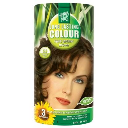 Vopsea de par Long Lasting Colour Golden Brown 5.3 HennaPlus