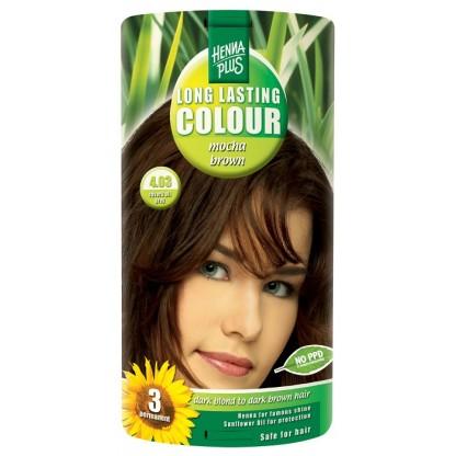 Vopsea de par Long Lasting Colour Mocha Brown 4.03 HennaPlus