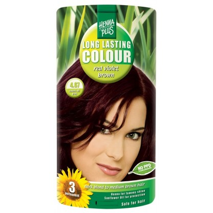 Vopsea de par Long Lasting Colour Red Violet Brown 4.67 HennaPlus