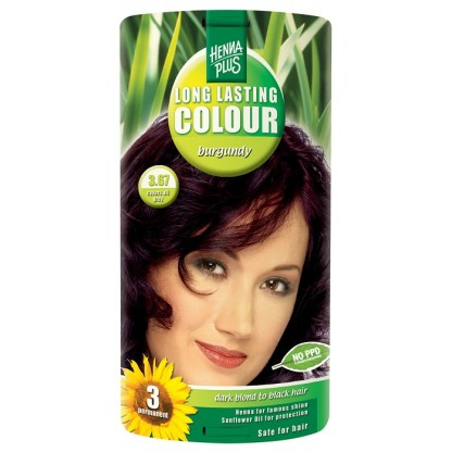 Vopsea de par Long Lasting Colour Burgundy 3.67 HennaPlus