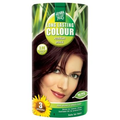 Vopsea de par Long Lasting Colour Reddish Black 2.66 HennaPlus