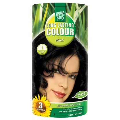 Vopsea de par Long Lasting Colour Black 1 HennaPlus