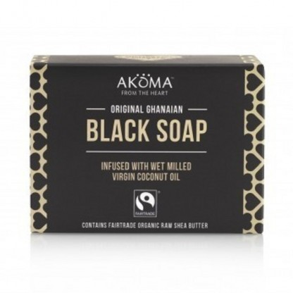 Sapun negru african autentic din Ghana Akoma Skincare 100g