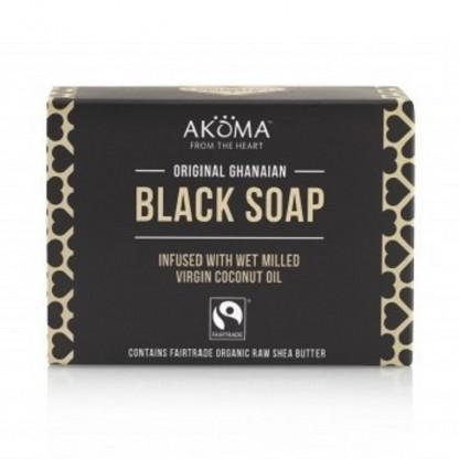 Sapun negru african autentic din Ghana Akoma Skincare 145g
