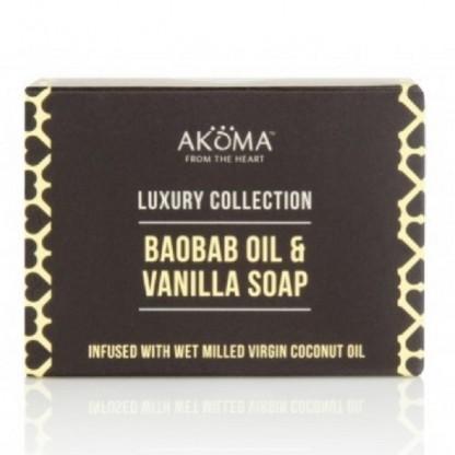 Sapun cu unt de shea, baobab si extract de vanilie Akoma Skincare 110g