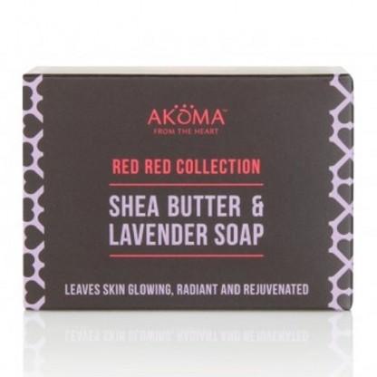 Sapun cu unt de shea, ulei de palmier si lavanda Akoma Skincare 110g